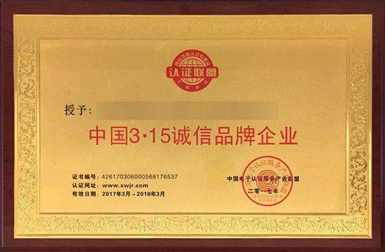 中国 3.15 诚信品牌